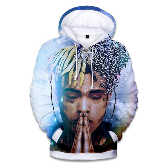 revenge kill rapper xxxtentacion hoodie 3D print hoody autumn winter fleece hooded sweatshirts men women streetwear pullover-Sweaters-Zodeys-C1-4XL-Zodeys