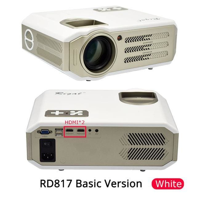 Led Projector 3500 Lumens Beamer 1280 800 Lcd Projector Tv: Rigal Rd817 Led Android Projector 3500 Lumens Smart Wifi