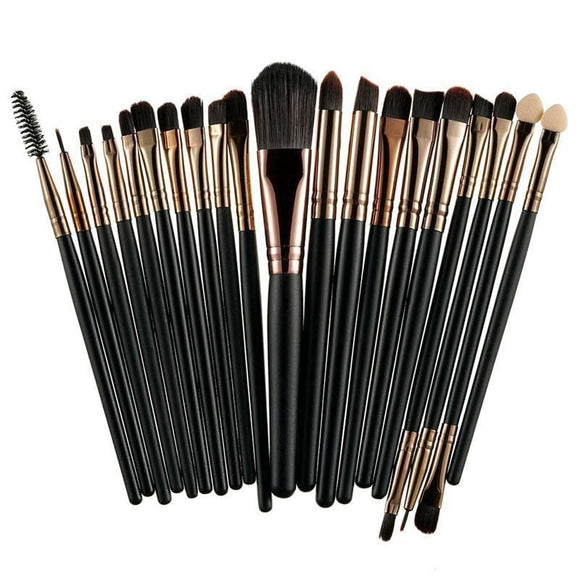 Rosalind 20Pcs Professional Makeup Brushes Set Powder Foundation Eyeshadow Make Up Brushes Cosmetics Soft Synthetic Hair Health & Beauty >