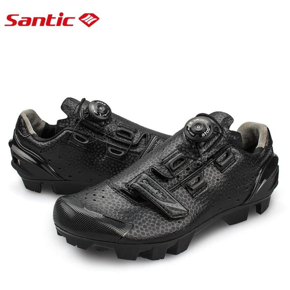 Santic Men Cycling MTB Shoes Cycling mountain bike for Athletic Racing Team Bicycle Shoes Breathable Cycling Clothings S12025H-Shoes-Zodeys-Black-10.5-Zodeys