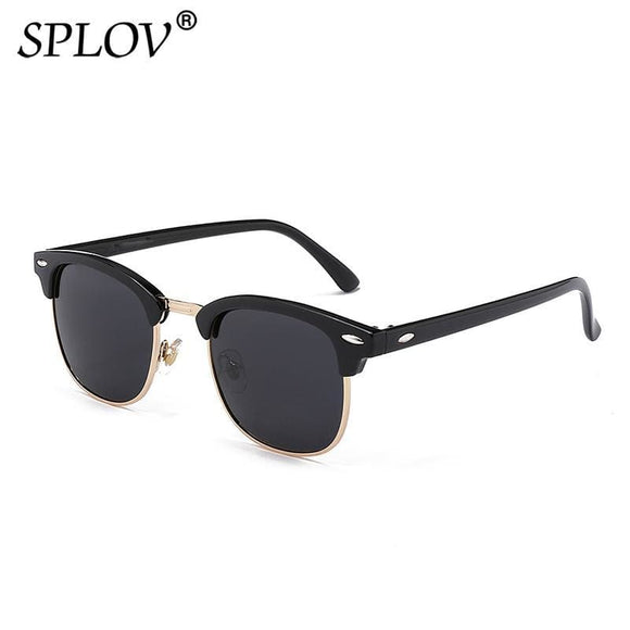 Semi Rimless Polarized Sunglasses Mens Womens Designer Half Frame Sun Glasses Classic Oculos De Sol Uv400 Apparel & Accessories > Clothing