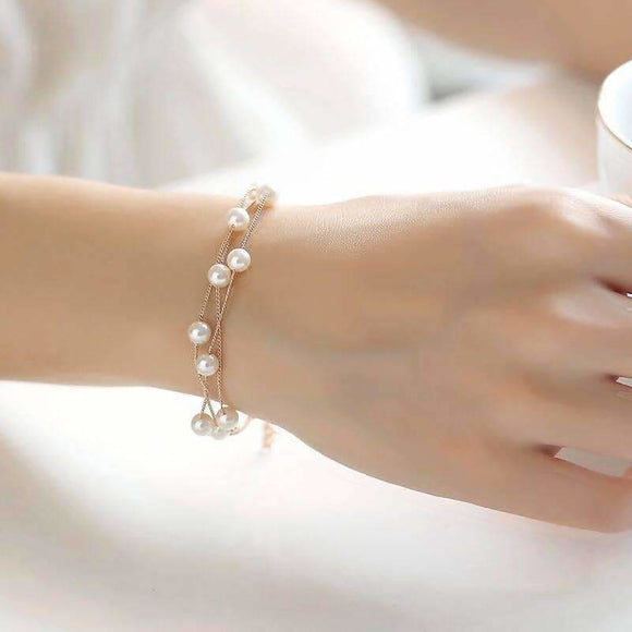 Simulated Pearl Bracelets For Women Apparel & Accessories > Jewelry > Bracelets
