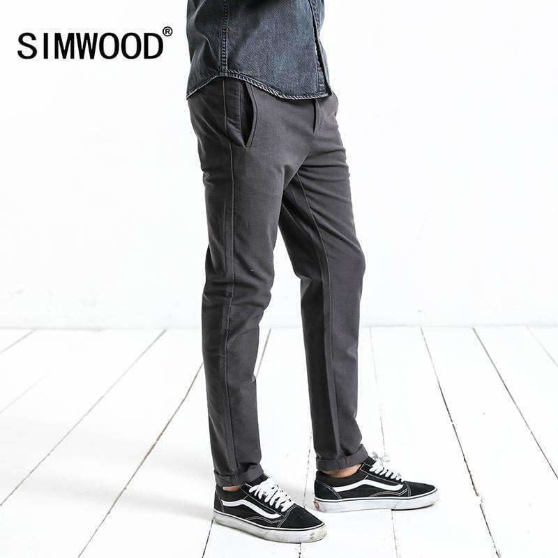 Simwood High Quality New Mens Fashion Autumn Pants Men Suit Pants Men Business Formal Casual Trousers Xc017015 Apparel & Accessories >