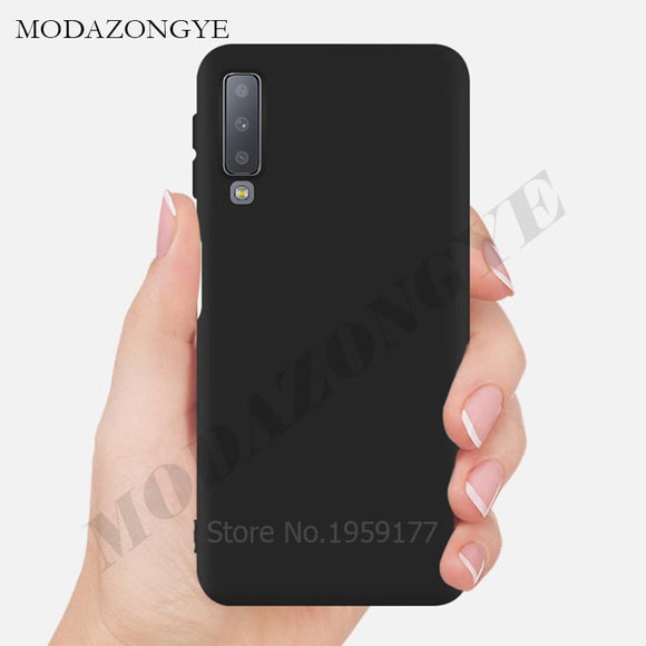 Soft Case For Samsung A7 2018 Case Silicone Back Cover Phone Case For Samsung Galaxy A7 2018 GalaxyA7 A 7 2018 SM-A750F A750F-Phone Cases-Zodeys-Black-A7 2018 SM-A750F-Zodeys