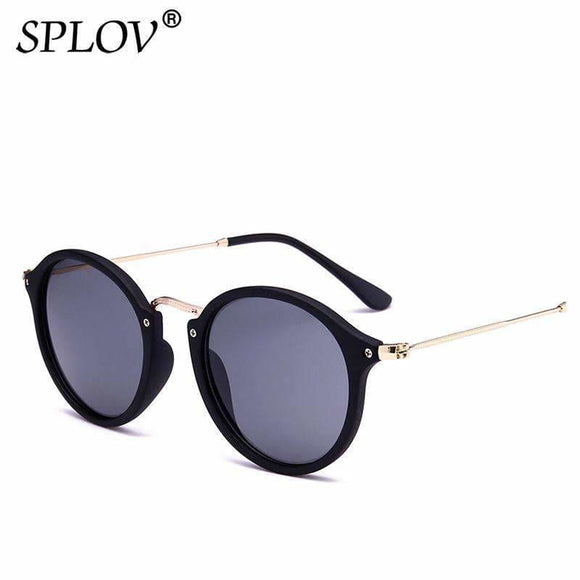 Splov New Arrival Round Sunglasses Retro Men Women Brand Designer Sunglasses Vintage Coating Mirrored Oculos De Sol Uv400 Apparel &