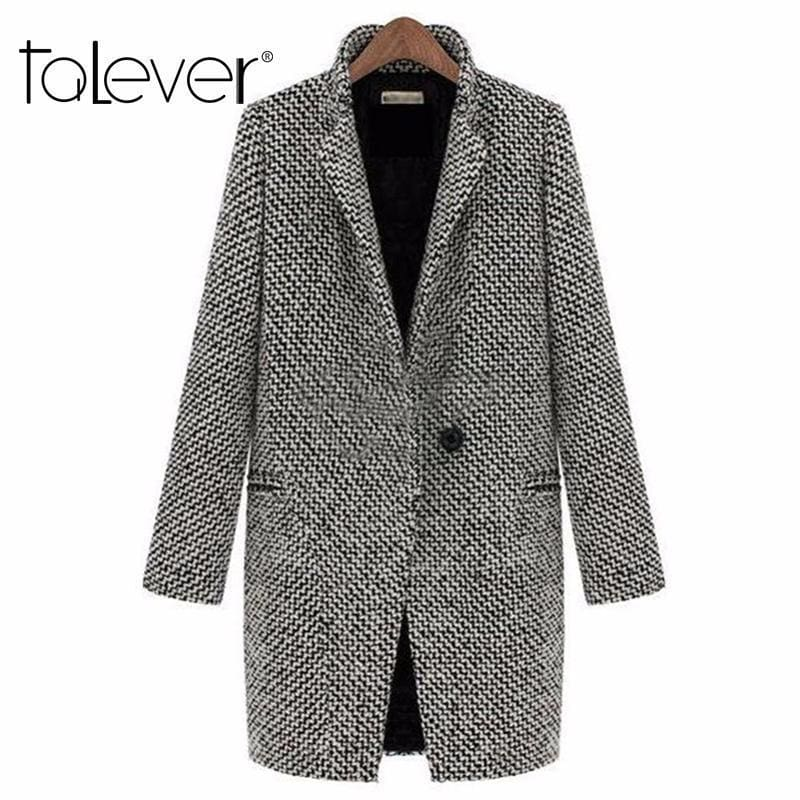 7ca6bd96bf8a3 Spring Autumn Womens Wool Coat New Fashion Long Woolen Coat Single Breasted  Slim Type Female Autumn