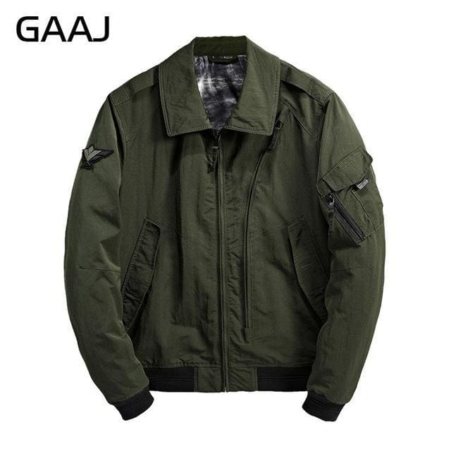 Spring Summer Military Bomber Jacket Mens Camo Streetwear Leather