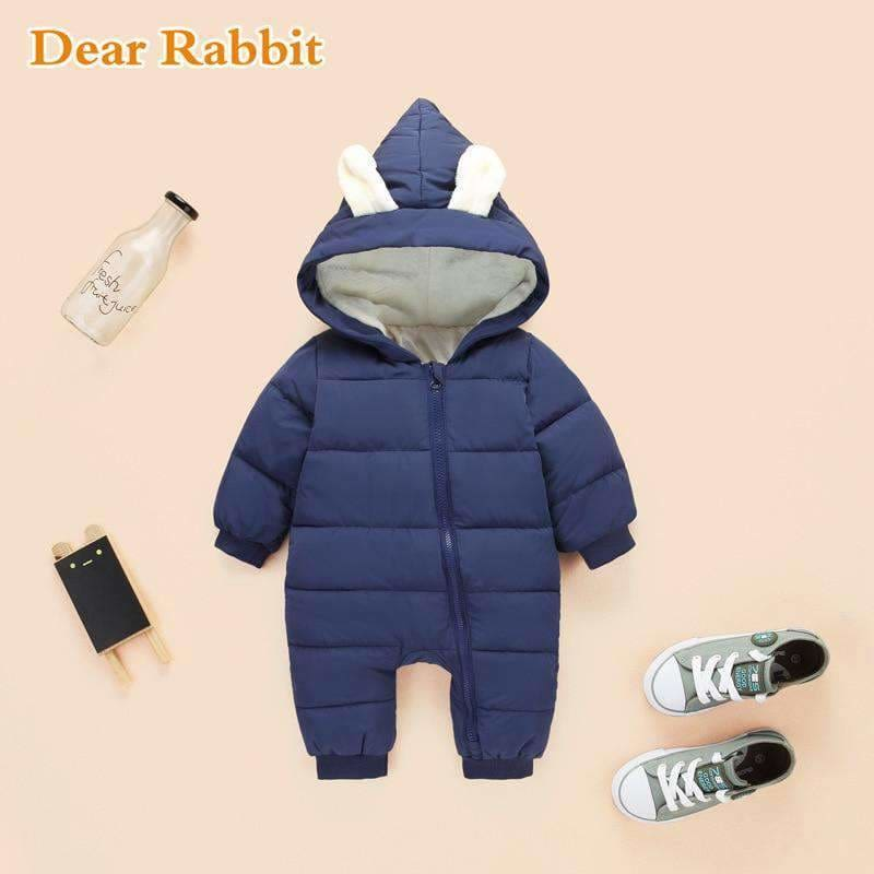 1b39027fe42 Spring Winter Jumpsuit Baby Newborn Snowsuit Snow Wear Coats Boy Warm Romper  100% Down Cotton