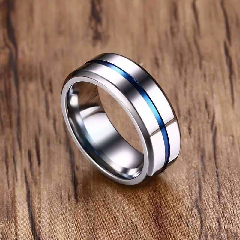 Stainless Steel Wedding Band Male Alliance Stainless Rainbow Thin Line Rings Ladeez