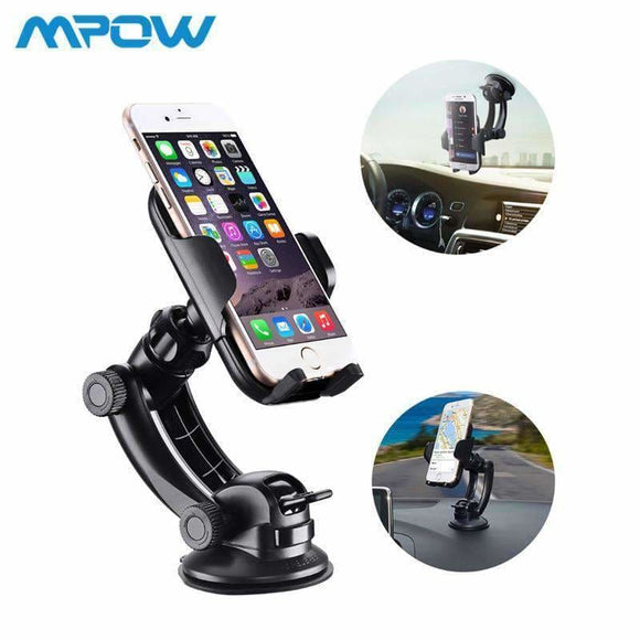 Steering-Wheel Mcm12 Mpow Car Mount Grip Pro 2 Dashboard Adjustable Car Phone Holder Universal Cradle Windshield Holder Stand Mpow Official