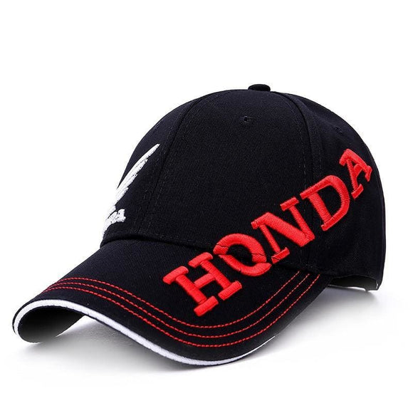 Sun Hat Men Women Moto Gp Letters Honda Motocross Riding Hats 3D Embroidered Wing F1 Racing Cap Motorcycle Baseball Cap Snapback Black