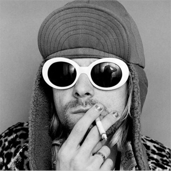 Superhot Eyewear - Retro Vintage Oval Round Sunglasses Men Women Alien Sunglasses Nirvana Kurt Cobain Shades Uv400 Apparel & Accessories >