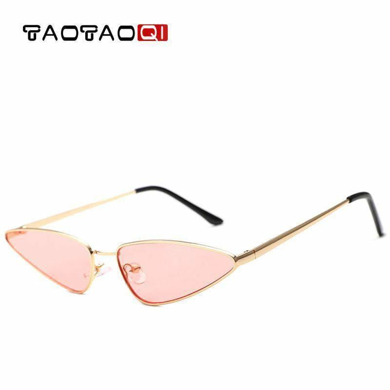 69f42f2271ce Taotaoqi Fashion Cat Eye Sunglasses Women Designer Triangle Small Frame  Sunglasses Men Luxury Vintage Sun Glasses