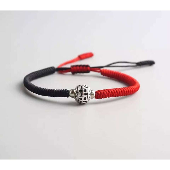 Tibetan Ball Prayer Bead Lucky Handmade Knots Rope Bracelets Apparel & Accessories > Jewelry > Bracelets
