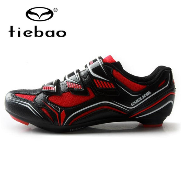 TIEBAO 2018 New Men Road Cycling Shoes Professional Road Zapatillas Ciclismo Bike Shoes Breathable Outdoor Shoes Men Cycling-Shoes-Zodeys-Black with green-40-Zodeys