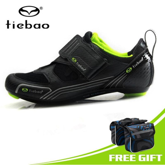Tiebao Cycling Shoes 2018 New Professional Bicycle Bike Mens Road Bike Racing Shoes Ultralight Mesh Self-Locking Non Slip Shoes-Shoes-Zodeys-black 2-10-Zodeys