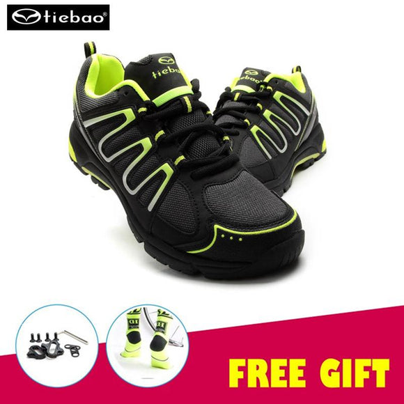 Tiebao pro Cycling Shoes Breathable Sapatilha Ciclismo Athletic Shoes Self-Locking Shoes Men MTB Bike Shoes zapatillas sneakers-Shoes-Zodeys-green-10-Zodeys