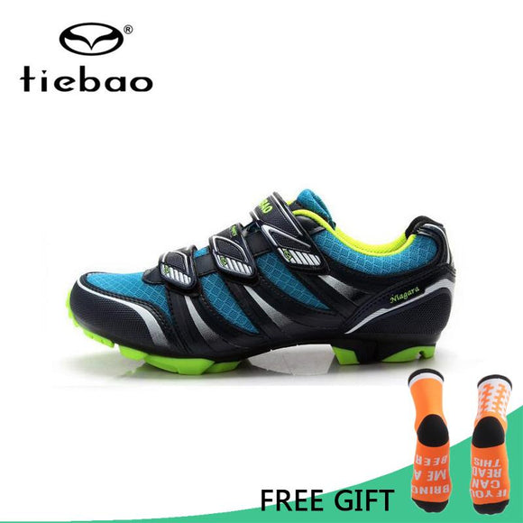 Tiebao Professional MTB Cycling Shoes Outdoor Athletic Racing Bike Shoes AutoLock/SelfLock Bicycle Shoes SPD Cleated Bike Shoes-Shoes-Zodeys-Black-10-Zodeys