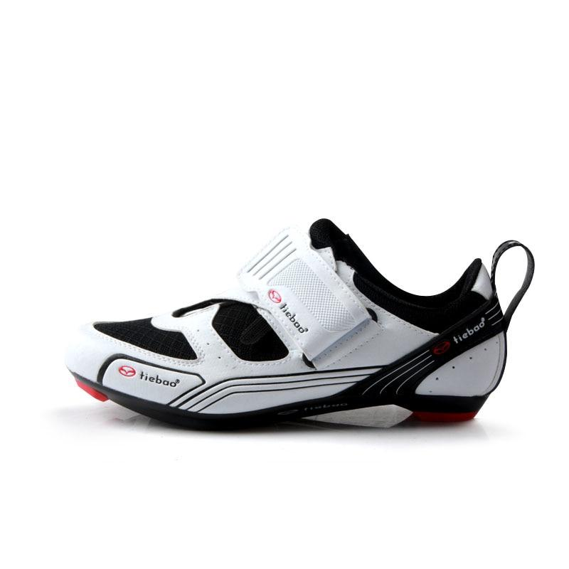 e4d0efa6daab TIEBAO R1691 Outdoor Triathlon Cycling Shoes Fiberglass-Nylon Outsole  Bicycle Shoes LOOK-KEO Cleat