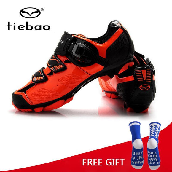 Tiebao Racing Men MTB Mountain Bike Shoes Bicycle Cycling Shoes Self-Locking Nylon-Fibreglass Riding Shoes zapatillas ciclismo-Shoes-Zodeys-Black-10-Zodeys