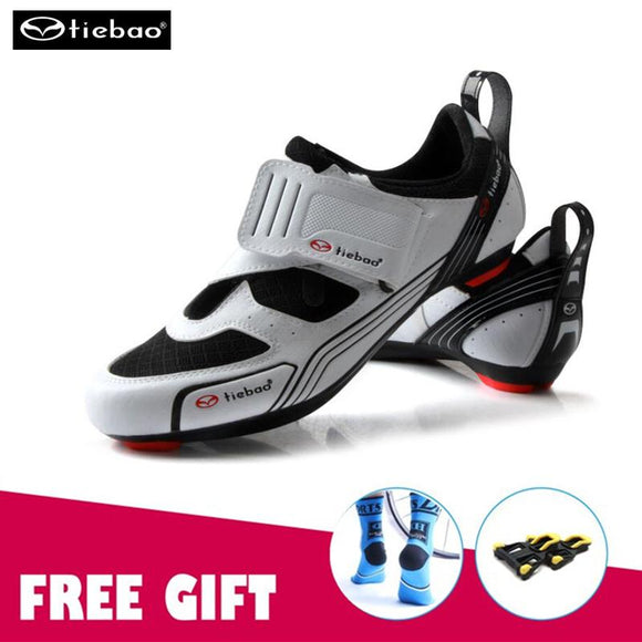 TIEBAO road cycling shoes man bicicleta carretera Breathable Women Road Bike Racing Athletic Shoes Self-Locking Shoes ciclismo-Shoes-Zodeys-A shoes with gift-10-Zodeys