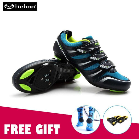 TIEBAO Road Racing Bike Shoes Ultralight Mens Breathable Athletic SPD Self-locking Professional MTB Cycling Bicycle sneakers-Shoes-Zodeys-A shoes with splint-10-Zodeys