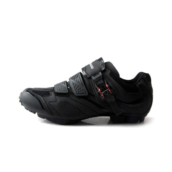 TIEBAO S1413 New Style Mountain Bike Shoes Dark Gray & Black Professional MTB Cycling Shoes Indoor Spinning Class Bicycle Shoes-Shoes-Zodeys-Black-10-Zodeys