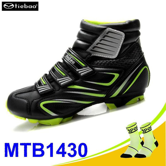 Tiebao sapatilha ciclismo mtb Cycling Shoes Winter Men sneakers Women MTB bicicleta mountain bike Shoes Warm Bicycle Shoes-Shoes-Zodeys-green and gift-10-Zodeys