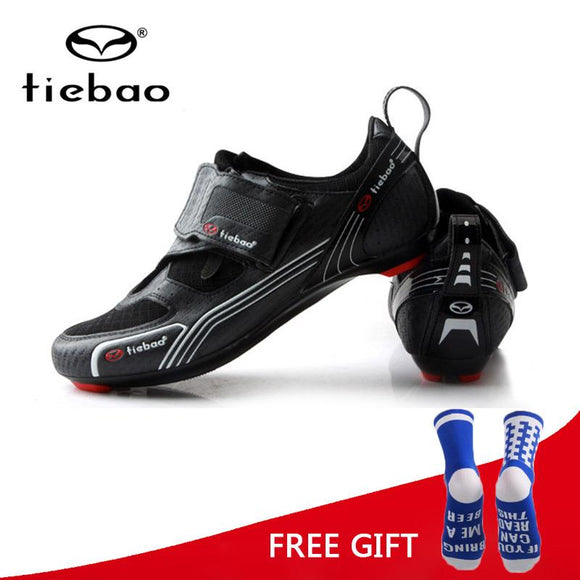 Tiebao Triathlon Professional Cycling Shoes Road Bike Bicycle Self Lock Shoes Men Breathable Outdoor Sports Sneakers Zapatillas-Shoes-Zodeys-black green-10-Zodeys