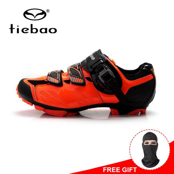 Tiebao Winter Men Cycling Shoes Mountain Bike Breathable Shoes Non-slip MTB Bicycle Shoes Sneakers zapatos ciclismo-Shoes-Zodeys-black orange-10-Zodeys