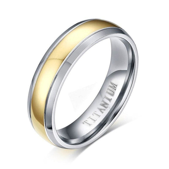 Titanium Ring For Men & Women Wedding Jewelry Elegant Gold-Color Pure Titanium Not Allergic Wedding Band Gifts Shop3861071 Store
