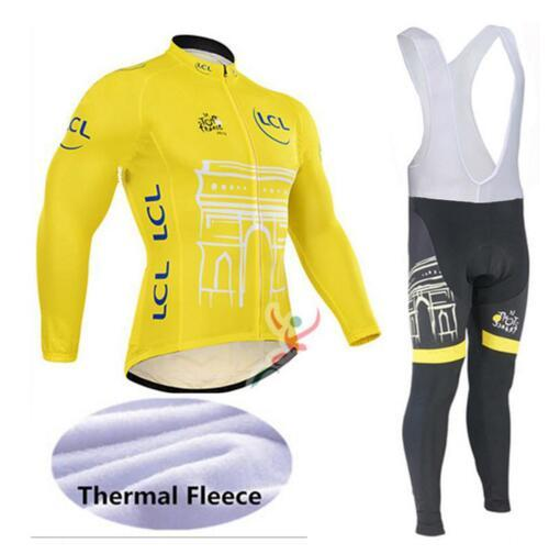 Tour De France Cycling Jerseys Cycling Set Winter Thermal Fleece Long Sleeves Suit Maillot Bike Clothing Ropa Ciclismo-Zodeys-1-3XL-Zodeys