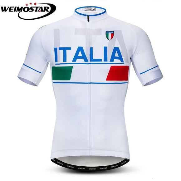 Tour de Italy Cycling Jersey Short Jersey Ropa De Ciclismo ITALIA Maillot MTB Bike Shirt Top Cycling Bicycle Clothes Blue White-Zodeys-Blue-L-Zodeys