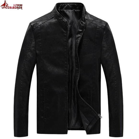 Unco&boror Plus Size M~7Xl 8Xl Mens Pu Jackets Coats Motorcycle Leather Jackets Mens Autumn Leather Clothing Casual Coats Black Zodeys