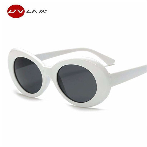 Uvlaik Clout Goggles Nirvana Kurt Cobain Round Sunglasses For Women Mirror Glasses Retro Female Male Sun Glasses Uv400 Apparel & Accessories