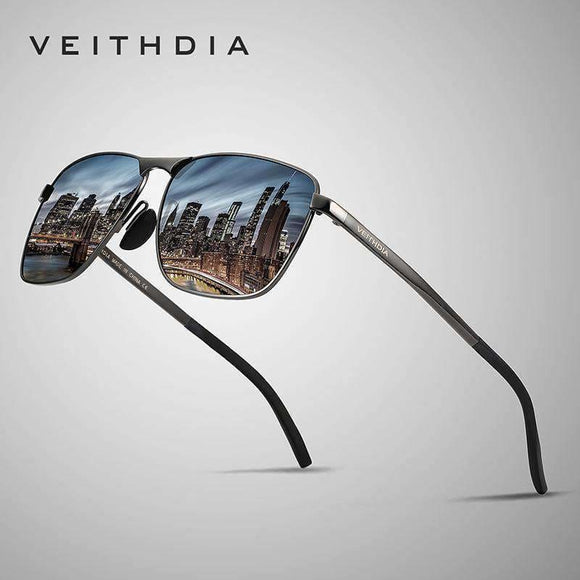 Veithdia Brand Mens Vintage Square Sunglasses Polarized Uv400 Lens Eyewear Accessories Male Sun Glasses For Men/women V2462 Apparel &