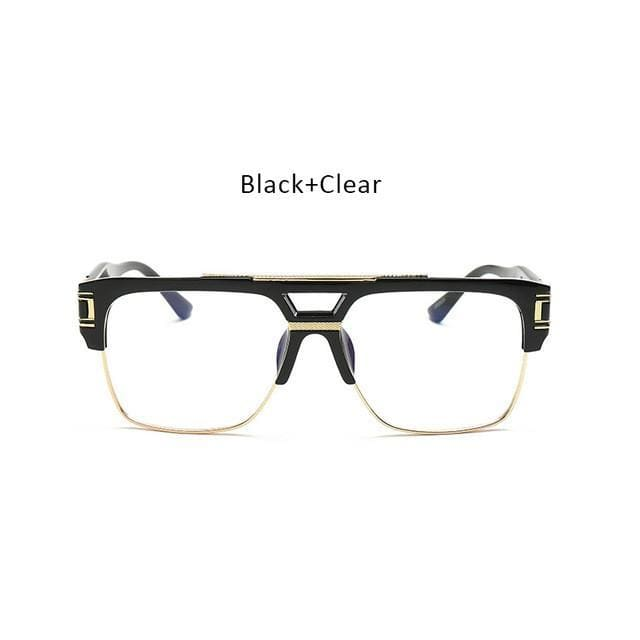 749bcfd1c978 Vintage Men Sunglasses Luxury Designer Flat Top Big Square Frame Mirror Sun Glasses  Women Fashion Retro Clear Eyewear - Zodeys
