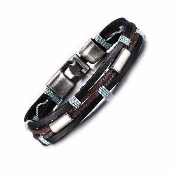Vintage Mens Leather Bracelet Wrist Band Bracelets For Men Desire Shop