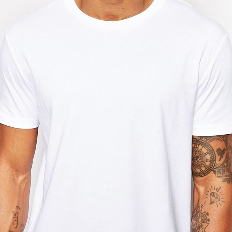 2356704ffe7 White Casual Long Size Mens Hip Hop Tops Streetwear Extra Long Tee Shirts  For Men Longline