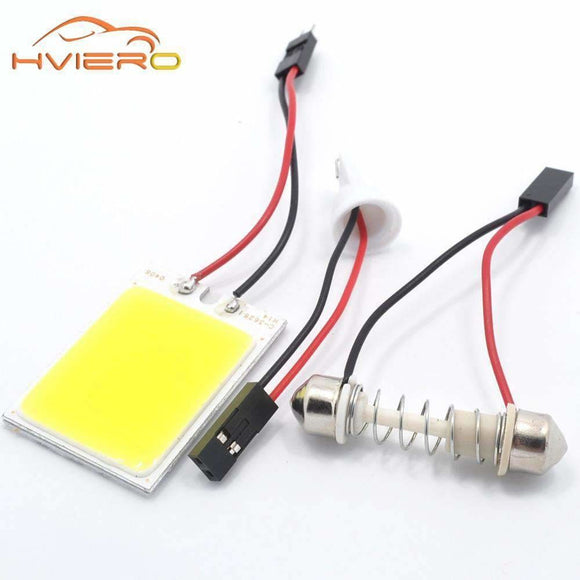 White Red Blue T10 Cob 24 Smd 36 Smd Car Led Vehicle Panel Lamps Auto Interior Reading Lamp Bulb Light Dome Festoon Ba9S Dc 12V Vehicles &