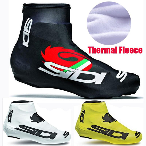 Winter Fleece Thermal Bicycle Cycling Overshoes MTB Bike Cycling Shoes Cover Sports ShoeCover Pro Road Racing Man/Women-Shoes-Zodeys-01-3XL-Zodeys