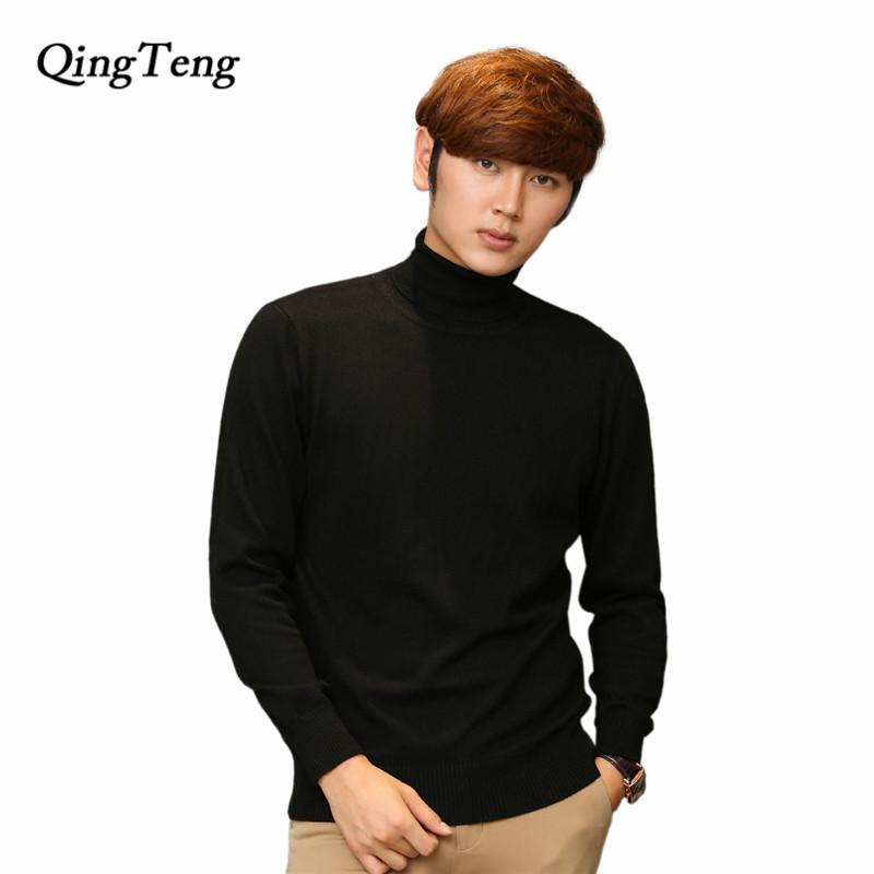 797ead02854c5 Winter Turtleneck Men Cashmere Plus Size Wholesale High Neck Big Large Size  Wool Sweater Male Warm
