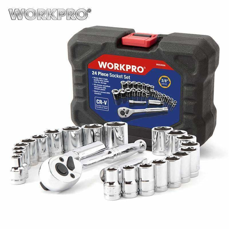 Workpro 24Pc Tool Set Torque Wrench Socket Set 3/8 Ratchet Wrench Socket Spanner Repair Tools & Hardware > Tool Sets