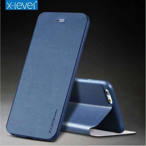 X-Level Ultra Thin Leather Tpu Stand Phone Case For Iphone 6 Case Iphone 8 Protective Flip Holder Cover For Iphone X Iphone 7 Pl Coolsmall