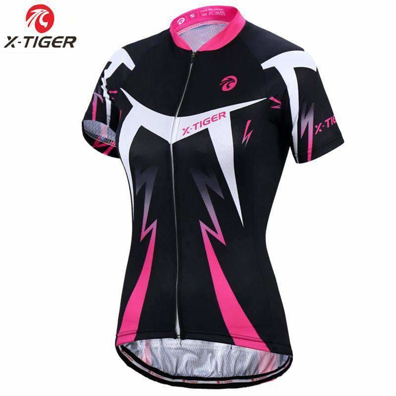 X-Tiger Dalila Short Sleeve Summer Women Mtb Bike Clothing Breathable Bicycle Clothes Ropa Ciclismo Girls Uv Cycling Jersey Apparel &