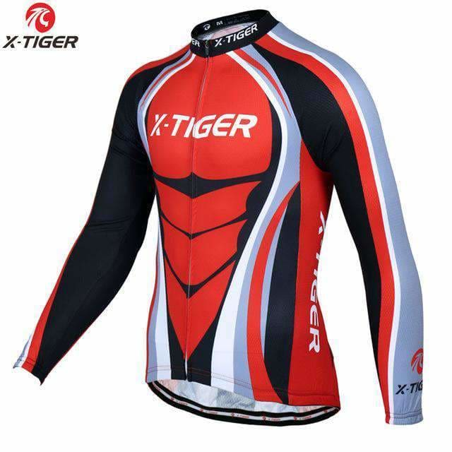 X-Tiger Pro Long Sleeve Cycling Jerseys Mountain Bike Clothing Breathable Bicycle Clothes Wear Ropa Ciclismo Cycling Clothing Cycling Jersey