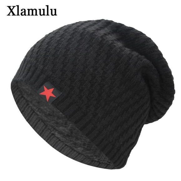 Xlamulu Skullies Beanies Knitted Hat Winter Hats For Men Women Beanie Warm Baggy Gorros Bonnet Caps Thicken Mask Skullies Black Zodeys