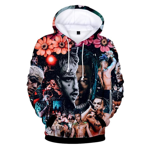 Xxxtentacion & Lil Peep 3D Print Hoodies Sweatshirts Women/men Long Sleeve Streetwear Hit Hop Streetwear Clothes Beige Blue Best Sellers