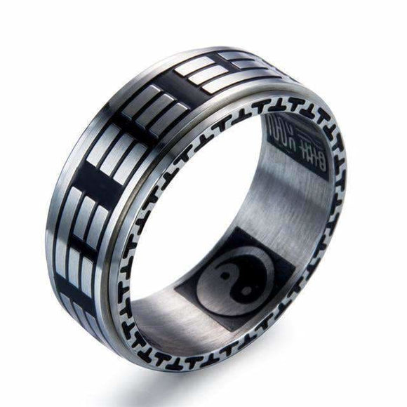 Ying Yang Fish Titanium Steel Ring 10 / 13800 Mens > Jewelry & Accessories > Rings