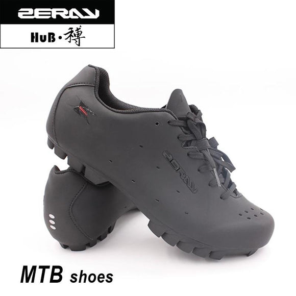 ZERAY Cycling Sneaker Mtb Calzado Ciclista Ultralight Bicycle Shoes Breathable Cycle Shoes Men EU SIZE-Shoes-Zodeys-Black Lace-38-Zodeys